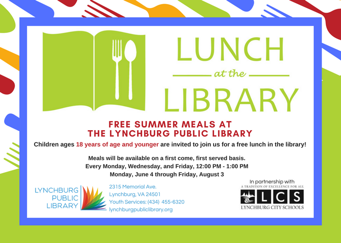 Free Lunch for Kids 18 & Under @ Community Meeting Room