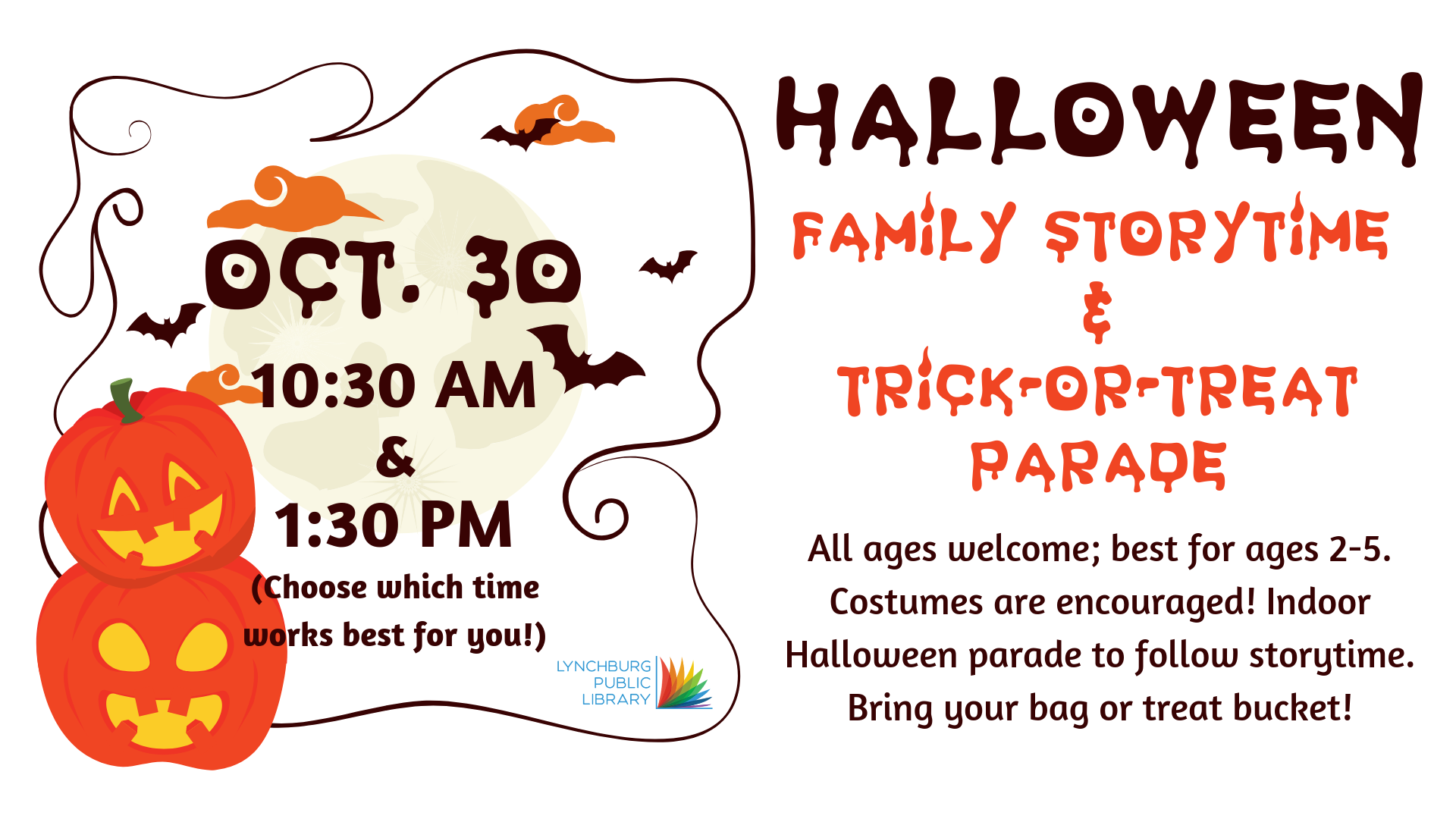 Family Storytime - Happy Halloween @ Storytime Room