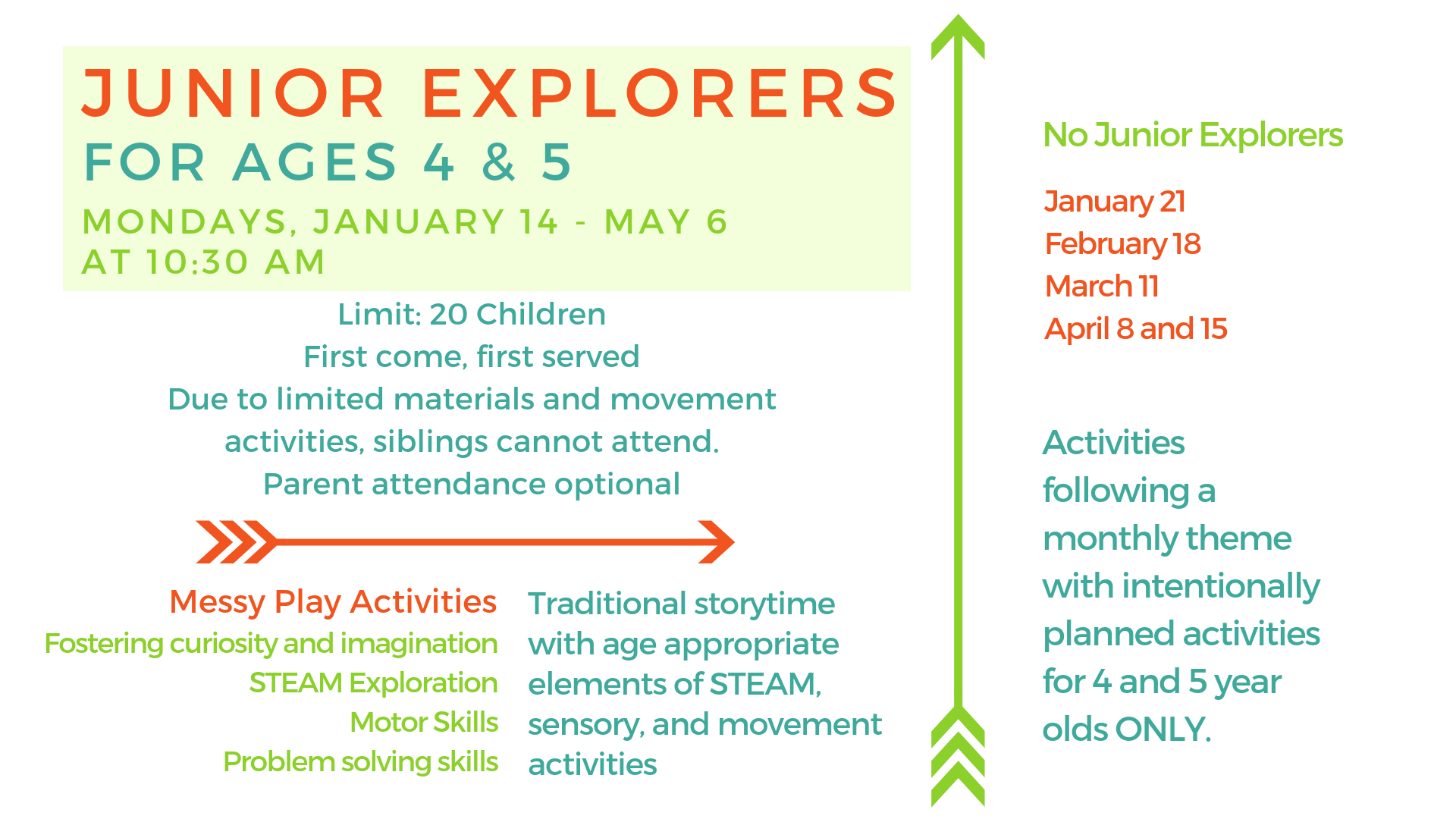 Junior Explorers - for 4-5 yr. olds @ Youth Services Department