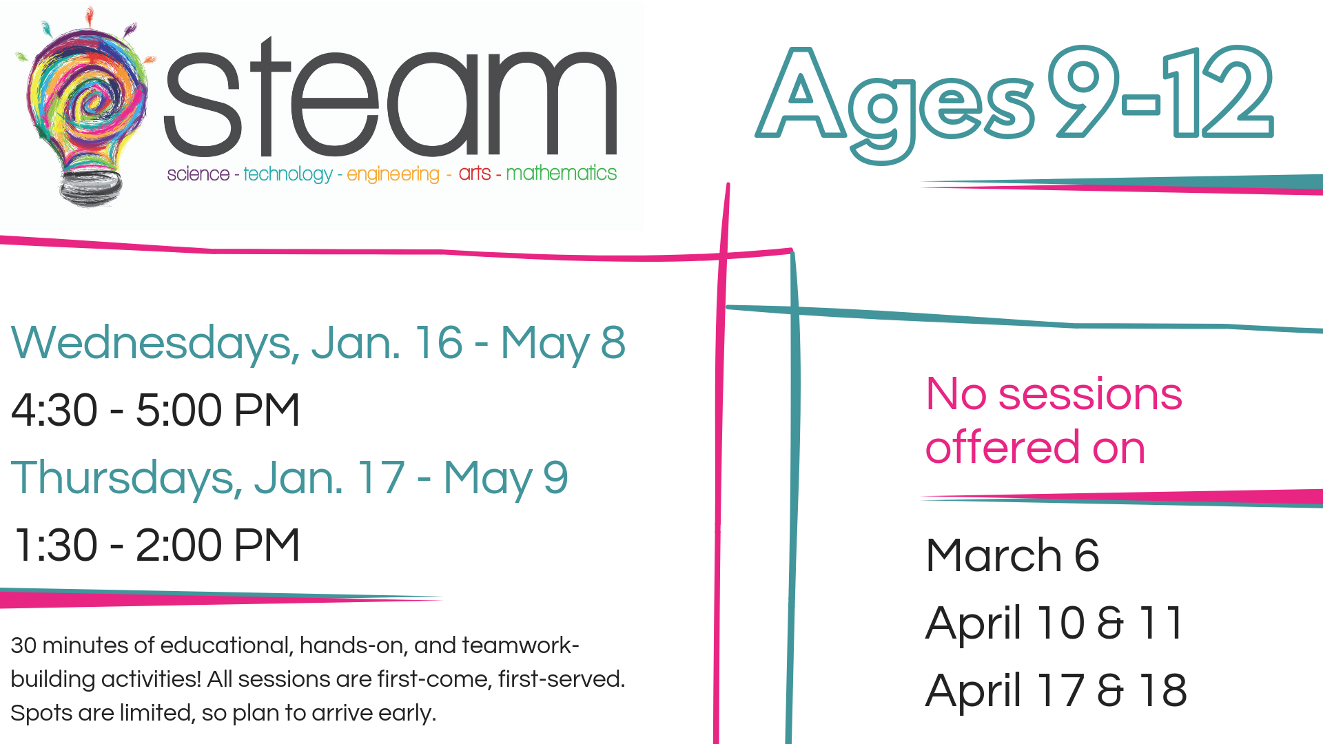 STEAM 9-12 yr. olds @ Community Meeting Room