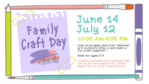Family Craft Day @ Youth Services Department