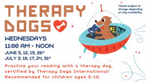 Therapy Dogs @ Youth Services Department