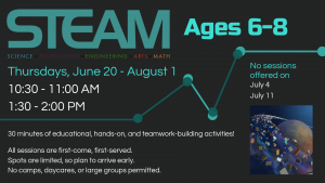 STEAM 6-8-yr-olds @ Youth Services Department