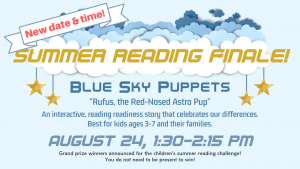 Blue Sky Puppets - NEW date & time @ Community Meeting Room