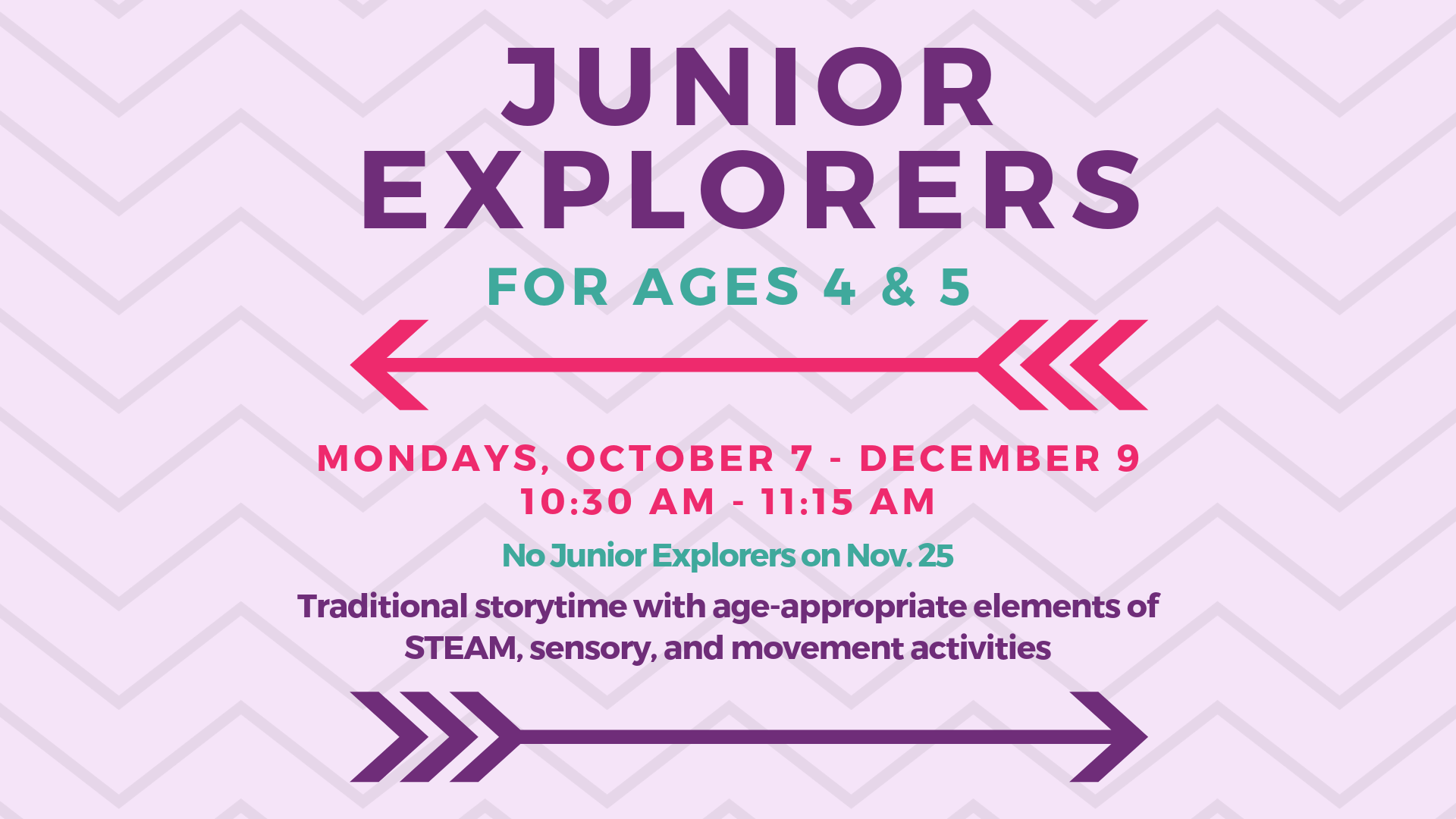 Junior Explorers @ Youth Services Department