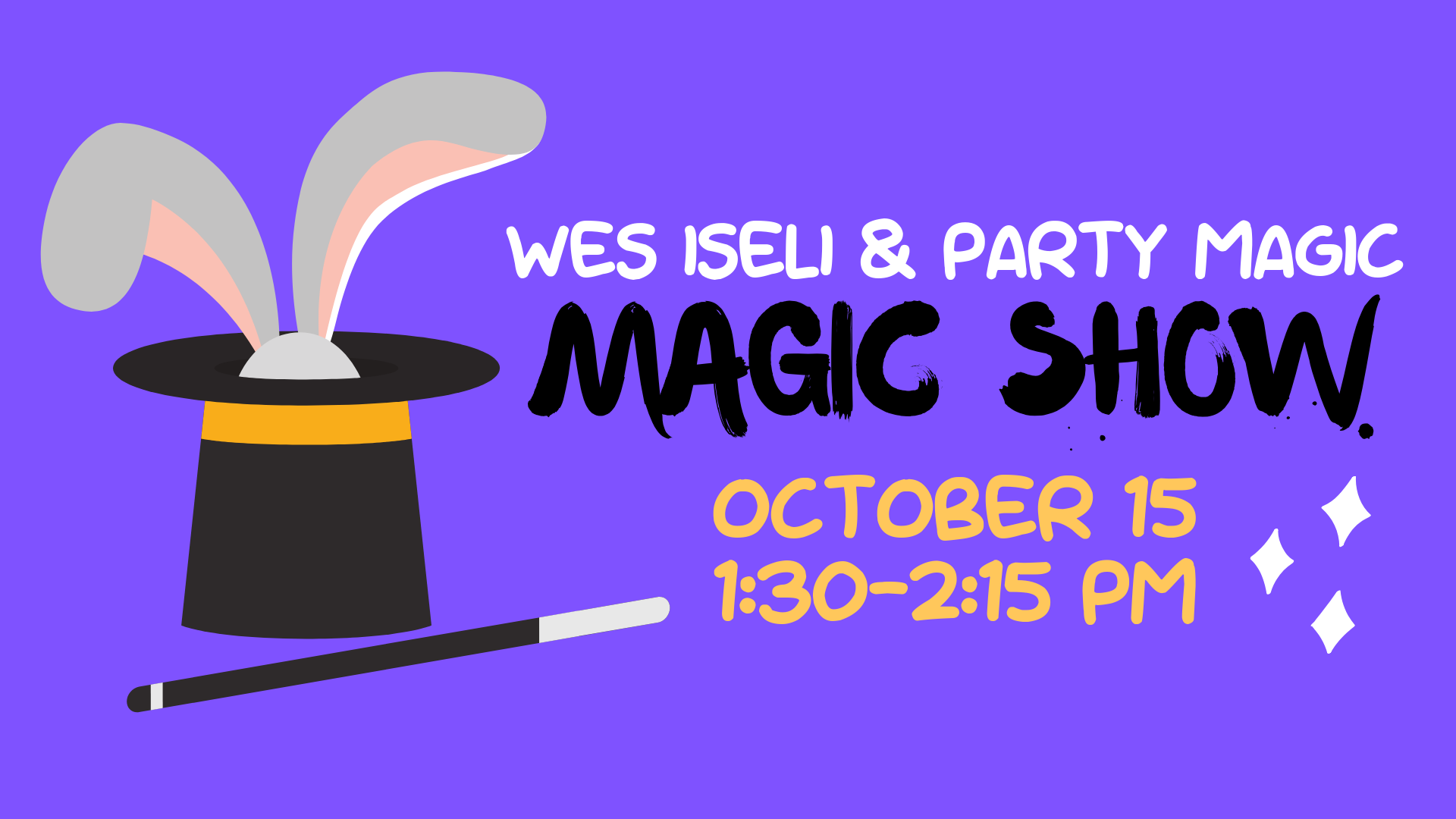 Magic Show: Wes Iseli and Party Magic @ Community Meeting Room
